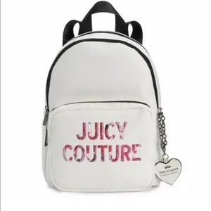 New Juicy Couture Nighter White Charm Backpack